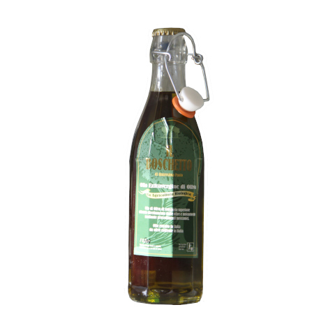 Organic EV olive oil in bottle