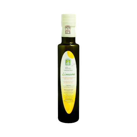 Natural EV olive oil condiment with lemon