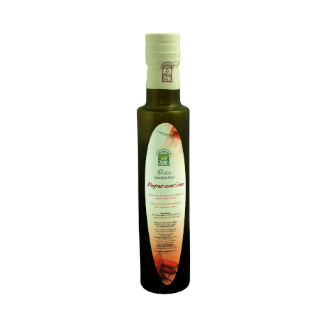 EV olive oil condiment with chilli