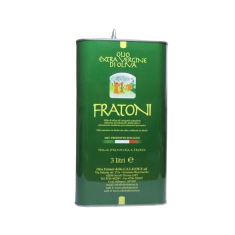 Olio extravergine d'oliva non filtrato in latta Nuova Campagna