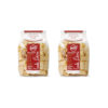 Bronze wheat Mezzipaccheri pasta, two 500-gram packs