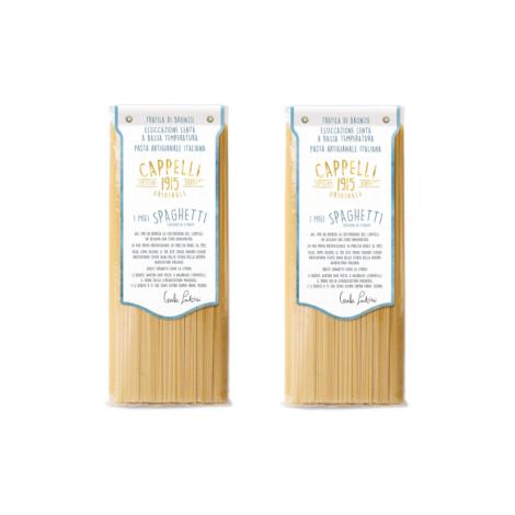 Original 1915 Cappelli spaghetti pasta - two 500-gram packs