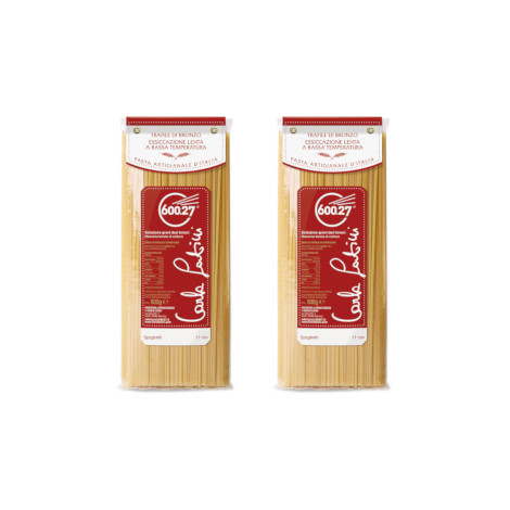 Bronze wheat spaghetti pasta - two 500-gram packs