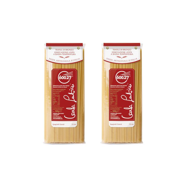 Spaghetti Grandi trafile di bronzo – 2 pacchi da 500gr – Carla Latini