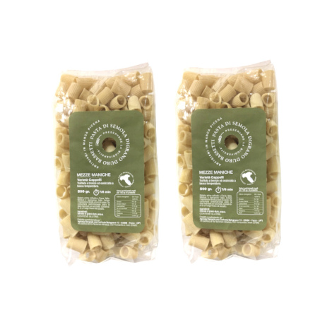 Cappelli Mezze Maniche pasta – two 500-gram packs