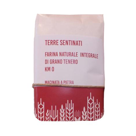 Farina naturale integrale di grano tenero