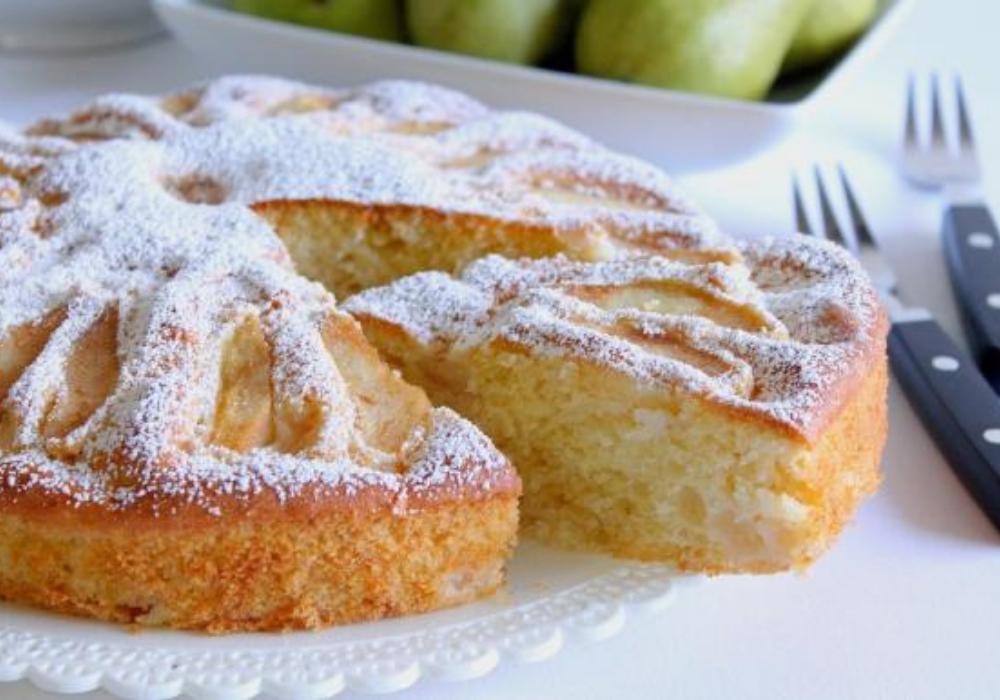 La ricetta della torta alla pera angelica
