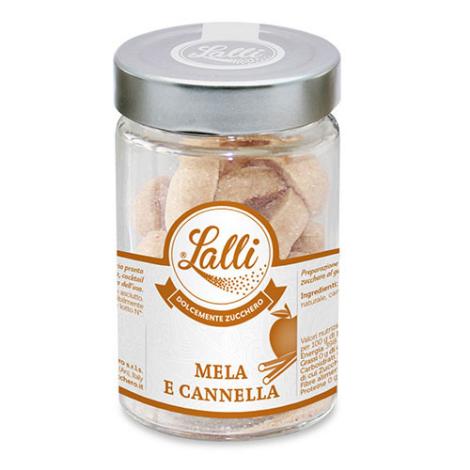 Cuoricini – Zollette di zucchero Mela e Cannella 80 g – Lalli Zucchero